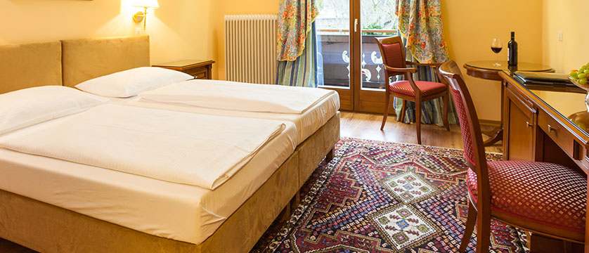 Landhotel St. Georg, Zell am See, Austria - double bedroom with balcony 2.jpg